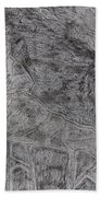 After Billy Childish Pencil Drawing 5 Beach Towel