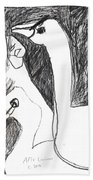 After Mikhail Larionov Pencil Drawing 5 Beach Towel
