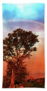 After The Storm, California Foothills                        Beach Towel
