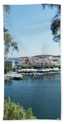 Agios Nikolaos Crete Beach Towel