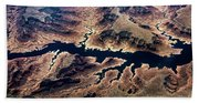 Air View Of The Grand Canyon Beach Towel