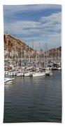 Alicante Marina And The Santa Barbara Castle Beach Towel