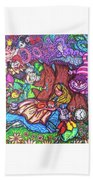Alice In Wonderland  Beach Towel