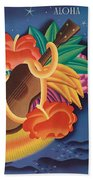 Aloha Welcome To Hawaii, 1932 Poster Beach Towel