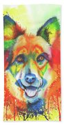Alsatian Sensation Beach Towel by Peter Williams