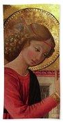 Altarpiece Angel Antique Christian Catholic Religious Art Beach Towel
