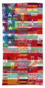 American Flags Of The World Beach Sheet