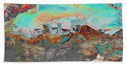 American Indian Home In Abstract Beach Sheet