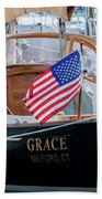 American Pride At The Marina Beach Towel