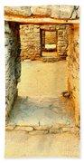 Ancient Windows Aztec Ruins Beach Towel
