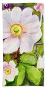 Anemones Birthday Card Beach Towel