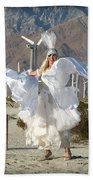 Angel Swirling In The Desert Beach Towel