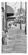 Antique Alley In Black And White Beach Towel