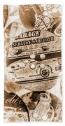 Antique Service Industry Beach Towel