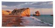 Aphrodite's Birthplace Or Petra Tou Romiou In Cyprus 2 Beach Sheet