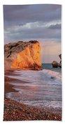 Aphrodite's Birthplace Or Petra Tou Romiou In Cyprus 2 Beach Towel