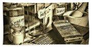 Apothecary-vintage Pill Maker Sepia Beach Sheet