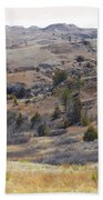 April Badlands Near Amidon Beach Towel