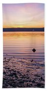 April Dawn On The Hudson River II Beach Sheet
