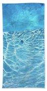 Aqua Agua Abstract Five Beach Sheet