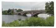 Arch Bridge Over River, Cambridge Beach Towel