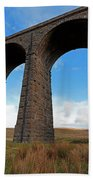 Arches And Piers Of The Ribblehead Viaduct North Yorkshire Beach Towel