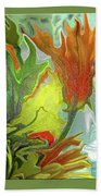 Orange Tulip Beach Towel