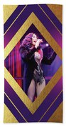 Burlesque Cher Diamond Beach Towel