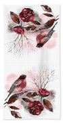 Spring Rests In The Heart Of Winter Beach Towel