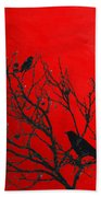 Raven - Black Over Red Beach Towel