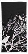 Raven - White Over Black Beach Towel