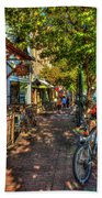 College Town Athens Georgia Downtown Uga Athens Georgia Art Beach Towel