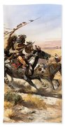 Attack On The Wagon Train Beach Towel
