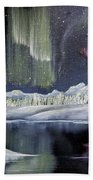 Aurora Borealis Beach Towel by Deleas Kilgore