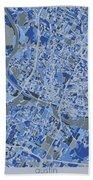 Austin Map Retro 5 Beach Towel