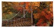 Autumn Across The Bridge  Beach Towel