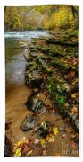 Autumn At Cherry Falls Elk River Beach Towel