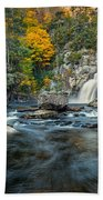 Autumn At Linville Falls - Linville Gorge Blue Ridge Parkway Beach Sheet