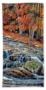 Autumn Cascade Beach Towel