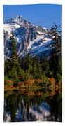 Autumn Colors With Mount Shuksan Beach Towel