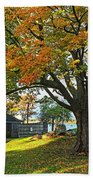 Autumn Day In The Salem Willows Salem Ma Red Beach Towel