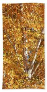 Autumn Golden Leaves Beach Towel