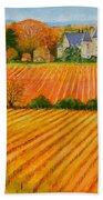 Autumn In French Vineyards Beach Towel