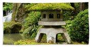 Autumn, Pagoda, Japanese Garden Beach Sheet