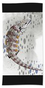 B Is For Blue Tongue Lizard Beach Towel