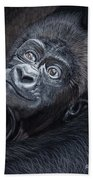 Baby Gorilla Beach Towel