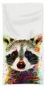 Baby Raccoon Beach Towel