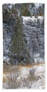 Badlands Winter Beach Towel