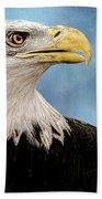 Bald Eagle And Fledgling  Beach Towel