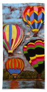 Balloon Family Beach Towel